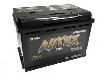 Аккумулятор АКТЕХ Extra 77 а/ч